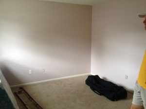 The second bedroom, which we are going to use as a study/mini guest room.