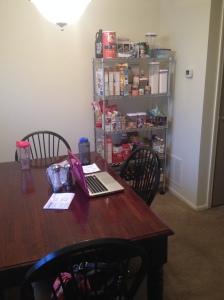 The dining room now...also my blogging station today!