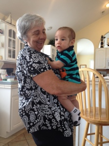 A very proud Grandma and EJ