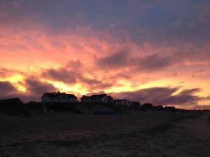 Sunset on the beach. God is good.