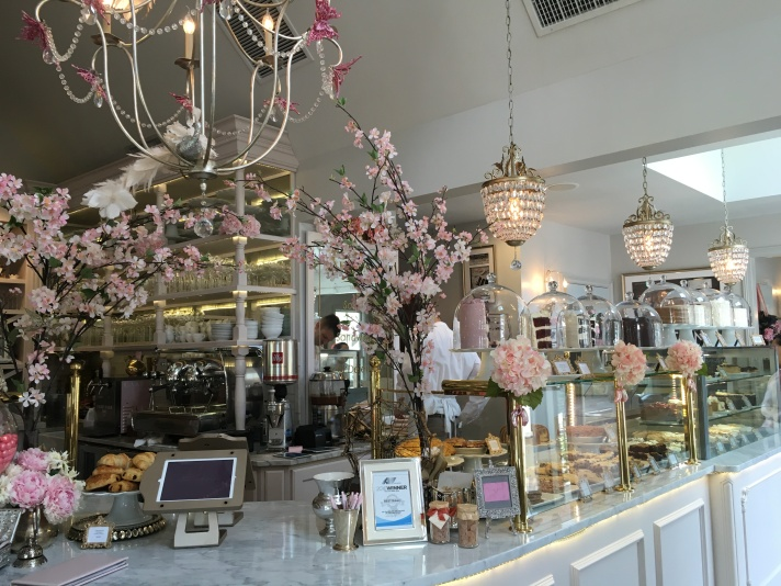 The dessert counter. So pretty down to the very last detail!